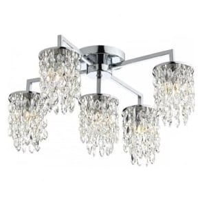 NIA5450 Niagra 5 Light Semi-Flush Ceiling Light Polished Chrome