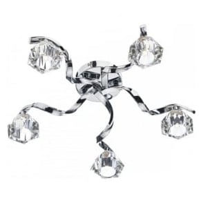 ANC5450 Ancona 5 Light Semi-Flush Ceiling Light Polished Chrome