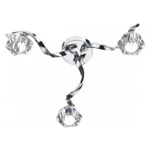 ANC5350 Ancona 3 Light Semi-Flush Ceiling Light Polished Chrome