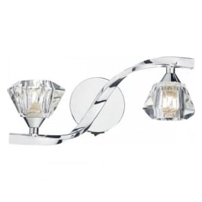 ANC0950 Ancona 2 Light Switched Wall Light Polished Chrome