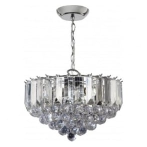 FARGO-14CH Fargo 3 Light Modern Ceiling Light Chrome Plated Finish (Large)