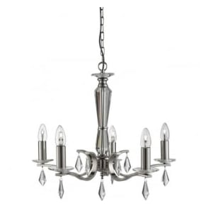 3905-5SS Royale 5 Light Ceiling Light Satin Silver