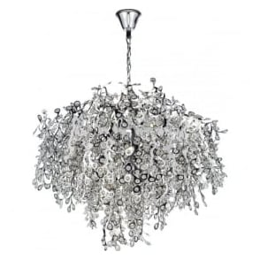 KON1750 Konstantina 13 Light Crystal Ceiling Pendant Polished Chrome