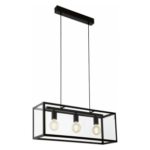 49393 Charterhouse 3 Light Ceiling Pendant Black