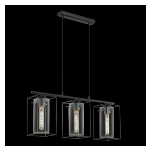 49496 Loncino 3 Light Ceiling Pendant Black