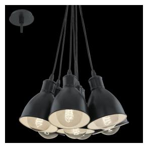 49467 Priddy 7 Light Ceiling Pendant Black