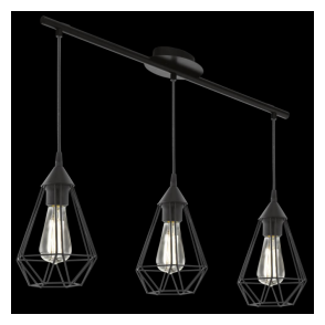 94189 Tarbes 3 Light Ceiling Pendant Black