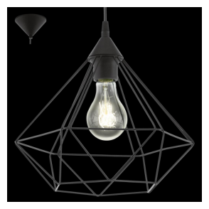 94188 Tarbes 1 Light Ceiling Pendant Black
