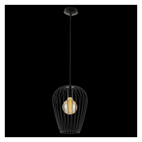 49472 Newtown 1 Light Large Ceiling Pendant Black