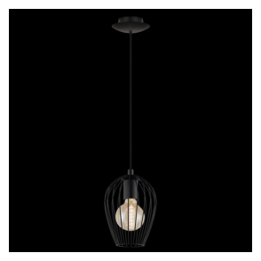 49477 Newtown 1 Light Small Ceiling Pendant Black