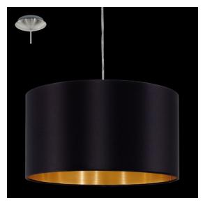 31599 Maserlo 1 Light Pendant Glossy Black