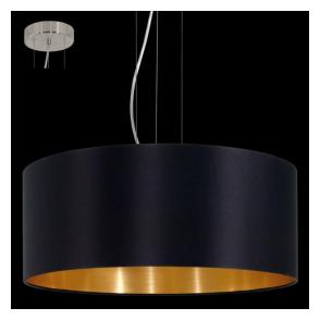 31605 Maserlo 3 Light Pendant Glossy Black