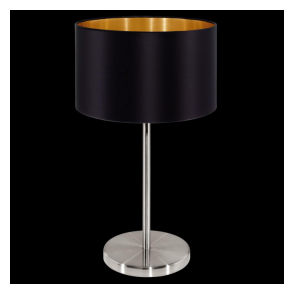 31627 Maserlo 1 Light Table Lamp Glossy Black