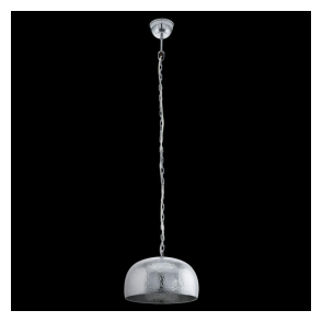 49182 Dumphry 1 Light Ceiling Pendant Chrome