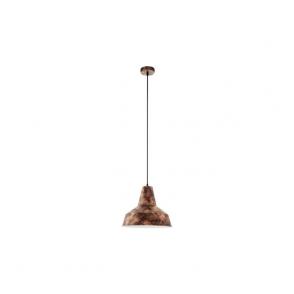 49388 Somerton 1 Light Ceiling Pendant Antique Copper