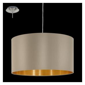 31602 Maserlo 1 Light Pendant Glossy Taupe