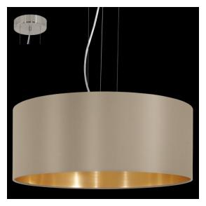 31607 Maserlo 3 Light Pendant Glossy Taupe