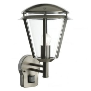 49945 Inova PIR 1 Light Outdoor Wall Light Brushed Stainless Steel IP44