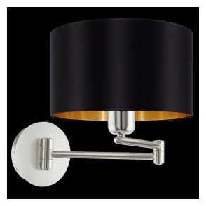 95054 Maserlo 1 Light Switched Wall Light Glossy Black
