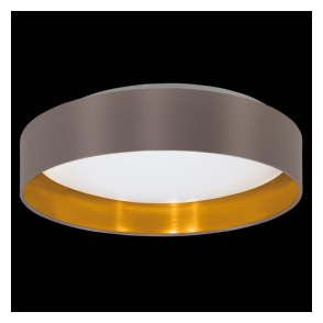 31625 Maserlo LED Ceiling Light Glossy Cappucino