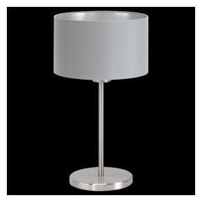 31628 Maserlo 1 Light Table Lamp Glossy Grey