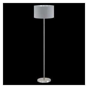 95173 Maserlo 1 Light Floor Lamp Glossy Grey