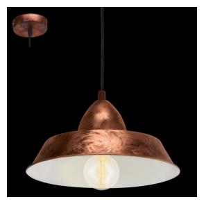 49243 Auckland 1 Light Ceiling Pendant Antique Copper