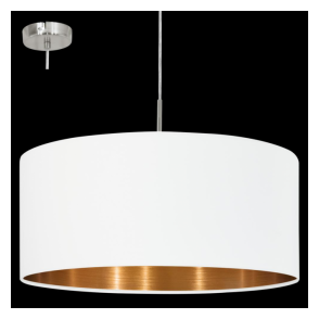 95045 Pasteri 1 Light Pendant Matt White