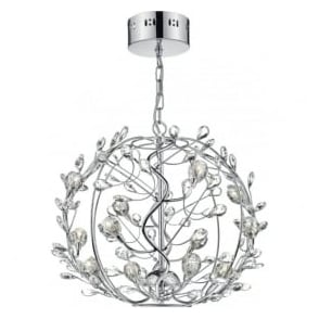 FLI1250 Flirt 12 Light Ceiling Pendant Polished Chrome
