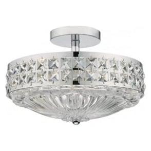 OLO5350 Olona 3 Light Semi Flush Ceiling Light Polished Chrome