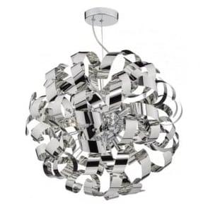 RAW1355 Rawley 9 Light Ceiling Light Polished Chrome