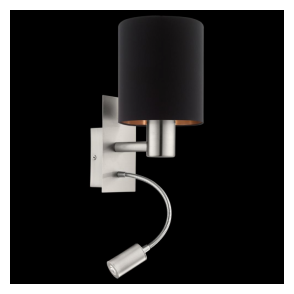 95049 Pasteri 1 Light Switched LED Wall Light Matt Black