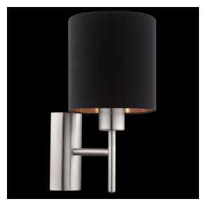 95052 Pasteri 1 Light Switched Wall Light Matt Black
