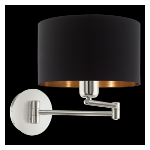 95059 Pasteri 1 Light Switched Wall Light Matt Black