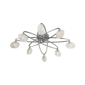 60927 Eastwood 8 Light Semi Flush Ceiling Light Polished Chrome