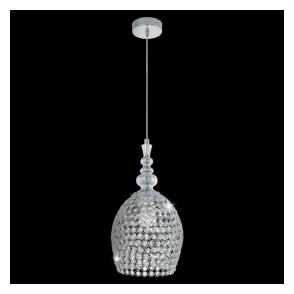 49847 Gillingham 1 Light Crystal Ceiling Pendant Polished Chrome