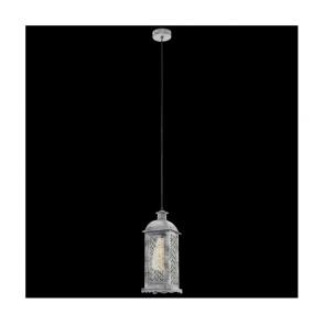 49216 Lisburn1 1 Light Ceiling Lantern Antique Silver