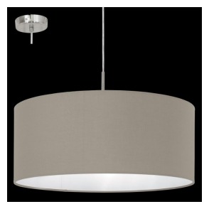 31576 Pasteri 1 Light Pendant Taupe