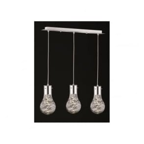 FL2334/3 Frenzy 3 Light LED Ceiling Pendant Polished Chrome