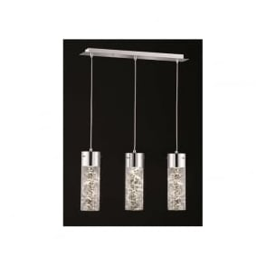 FL2332/3 Frenzy 3 Light LED Ceiling Pendant Polished Chrome