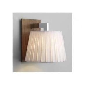 0553 Nola 1 Light Wall Light Walnut And Polished Chrome