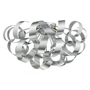 RAW0550 Rawley 5 Light Flush Ceiling Light Aluminium