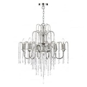 DAN0638 Daniella 6 Light Crystal Chandelier Polished Nickel