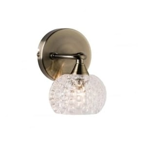 60921 Eastwood 1 Light Wall Light Light Antique Brass