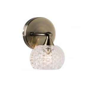 60921 Eastwood 1 Light Wall Light Light Antique Brass