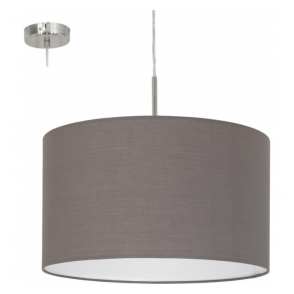 31574 Pasteri 1 Light Pendant Anthracite/Brown
