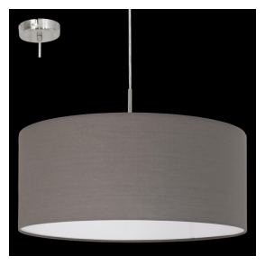 31578 Pasteri 1 Light Pendant Anthracite/Brown