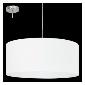 31575 Pasteri 1 Light Pendant White