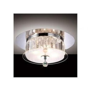 IL30241 Tosca 4 light Flush Crystal Ceiling Light Polished Chrome