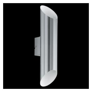 94803 Agolada 2 Light LED IP44 Wall Light Stainless Steel